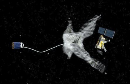 redes para atrapar basura espacial